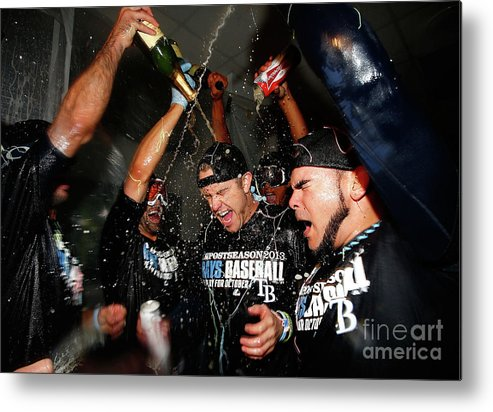 Following Metal Print featuring the photograph Evan Longoria by Jared Wickerham