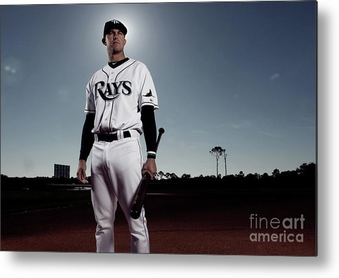 Media Day Metal Print featuring the photograph Evan Longoria by Nick Laham