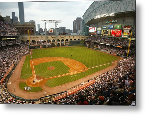 Opening Ceremony Metal Print featuring the photograph Florida Marlins v Houston Astros by Bill Baptist