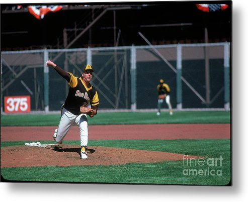 Baseball Pitcher Metal Print featuring the photograph Gaylord Perry by Michael Zagaris