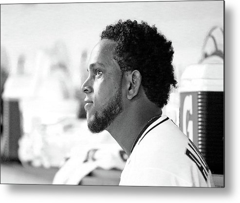 American League Baseball Metal Print featuring the photograph Henderson Alvarez by Rob Foldy