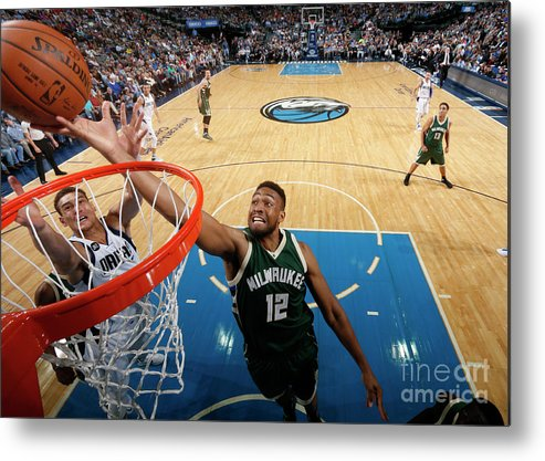 Nba Pro Basketball Metal Print featuring the photograph Jabari Parker by Glenn James