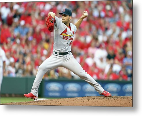 Great American Ball Park Metal Print featuring the photograph Jaime Garcia by Andy Lyons