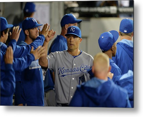 American League Baseball Metal Print featuring the photograph Jeremy Guthrie by Brian Kersey
