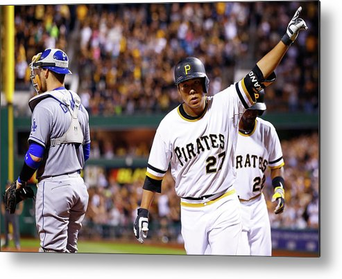 Three Quarter Length Metal Print featuring the photograph Jung Ho Kang by Jared Wickerham