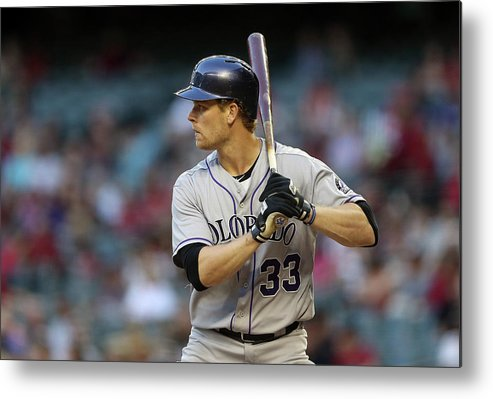 National League Baseball Metal Print featuring the photograph Justin Morneau by Christian Petersen