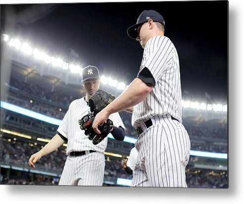 Three Quarter Length Metal Print featuring the photograph Kansas City Royals v New York Yankees by Elsa