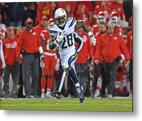 People Metal Print featuring the photograph Los Angeles Chargers v Kansas City Chiefs by Peter G. Aiken