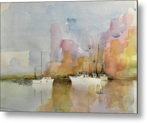 Shrimp Boat Metal Print featuring the painting Low Country Shrimpers by Robert Yonke