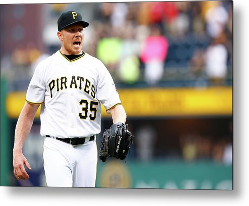 Three Quarter Length Metal Print featuring the photograph Mark Melancon by Jared Wickerham
