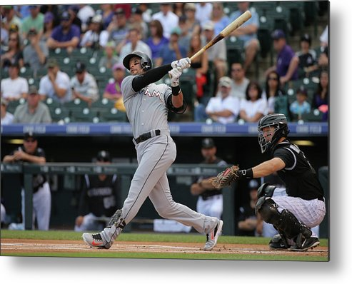 People Metal Print featuring the photograph Martin Prado by Doug Pensinger