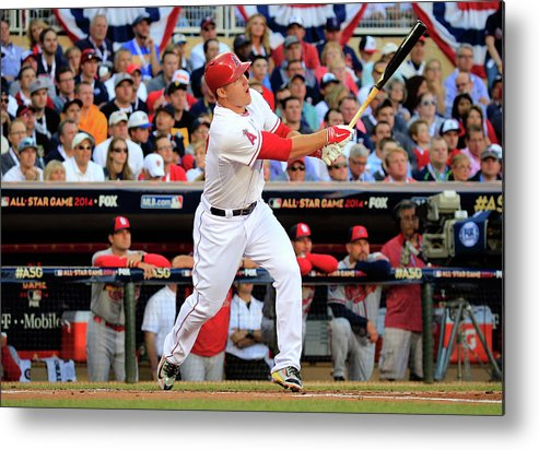 People Metal Print featuring the photograph Mike Trout by Rob Carr