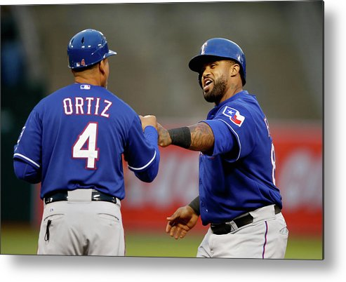 Three Quarter Length Metal Print featuring the photograph Prince Fielder by Ezra Shaw