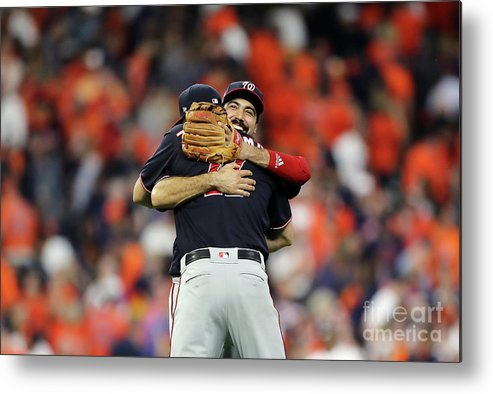 American League Baseball Metal Print featuring the photograph Ryan Zimmerman and Anthony Rendon by Elsa