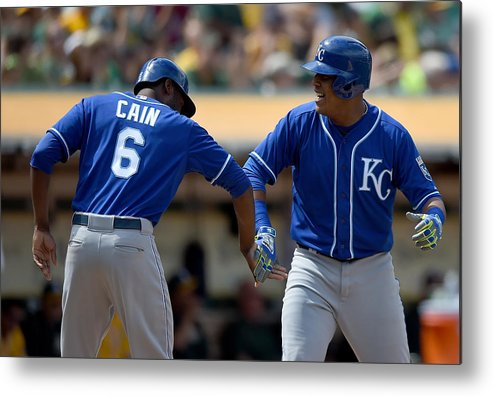 Salvador Perez Diaz Metal Print featuring the photograph Salvador Perez by Thearon W. Henderson