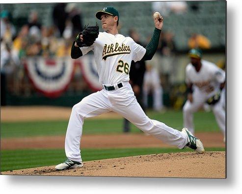 Second Inning Metal Print featuring the photograph Scott Kazmir by Thearon W. Henderson