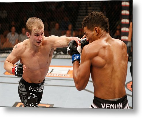 Martial Arts Metal Print featuring the photograph The Ultimate Fighter Finale: Ronson vs Lee by Josh Hedges