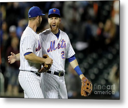 Three Quarter Length Metal Print featuring the photograph Todd Frazier by Elsa