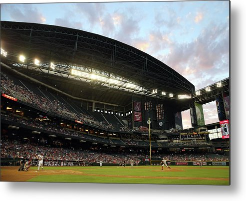 Motion Metal Print featuring the photograph Tony Cingrani by Christian Petersen