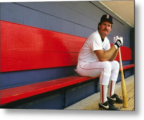 1980-1989 Metal Print featuring the photograph Wade Boggs by Ronald C. Modra/sports Imagery
