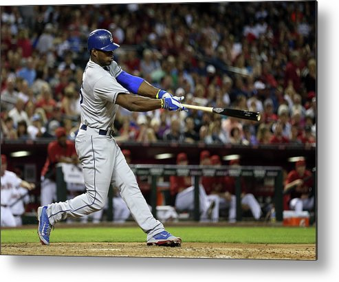 Los Angeles Dodgers Metal Print featuring the photograph Yasiel Puig by Christian Petersen