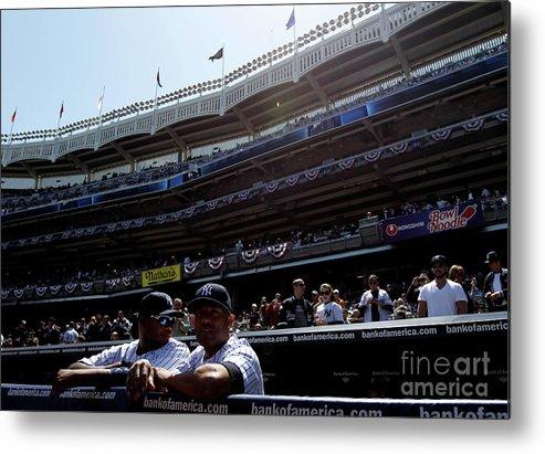 American League Baseball Metal Print featuring the photograph Mariano Rivera by Nick Laham