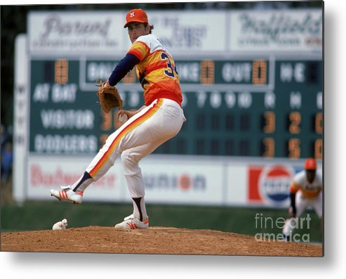 1980-1989 Metal Print featuring the photograph Nolan Ryan by Rich Pilling
