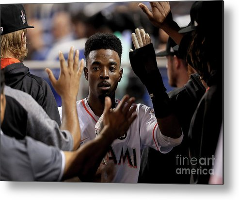 Second Inning Metal Print featuring the photograph Dee Gordon by Mike Ehrmann