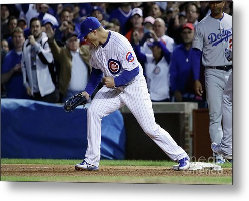 Championship Metal Print featuring the photograph Anthony Rizzo by Jonathan Daniel