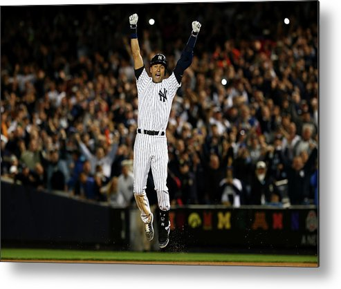 Derek Jeter Metal Print featuring the photograph Derek Jeter by Elsa