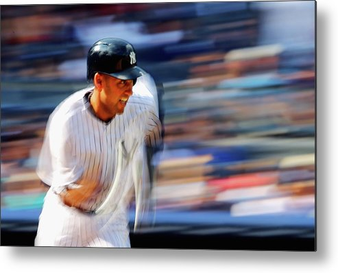 Ninth Inning Metal Print featuring the photograph Derek Jeter by Al Bello