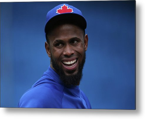 American League Baseball Metal Print featuring the photograph Jay Rogers by Tom Szczerbowski