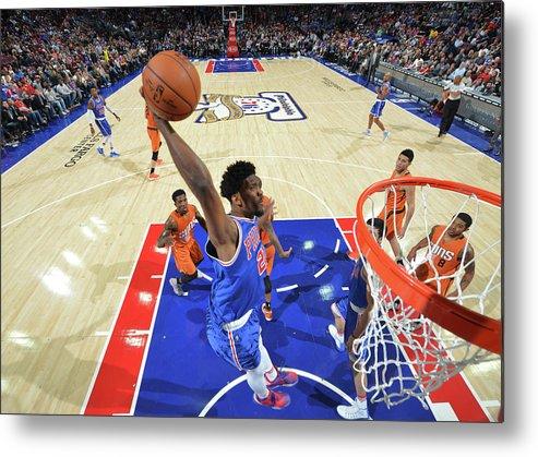 Nba Pro Basketball Metal Print featuring the photograph Joel Embiid by Jesse D. Garrabrant