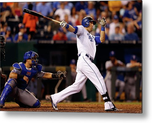 American League Baseball Metal Print featuring the photograph Alex Gordon by Jamie Squire