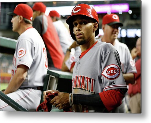 National League Baseball Metal Print featuring the photograph Billy Hamilton by Christian Petersen