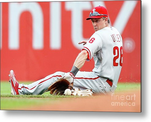 People Metal Print featuring the photograph Chase Utley by Jared Wickerham