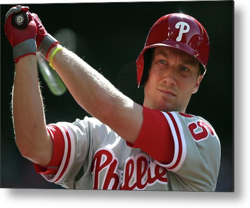 Ninth Inning Metal Print featuring the photograph Cody Asche by Christian Petersen