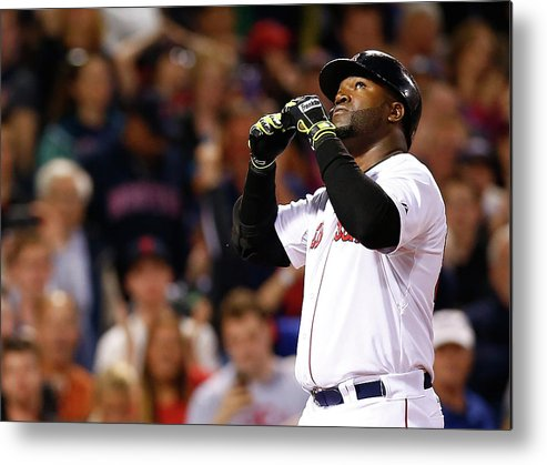 American League Baseball Metal Print featuring the photograph David Ortiz by Jared Wickerham