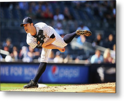 Ninth Inning Metal Print featuring the photograph David Robertson by Al Bello