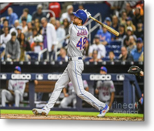 Jacob Degrom Metal Print featuring the photograph Jacob Degrom by Mark Brown