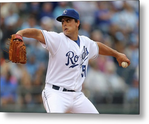 Second Inning Metal Print featuring the photograph Jason Vargas by Ed Zurga