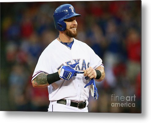 Second Inning Metal Print featuring the photograph Josh Hamilton by Ronald Martinez