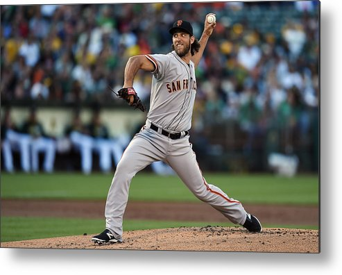 American League Baseball Metal Print featuring the photograph Madison Bumgarner by Thearon W. Henderson
