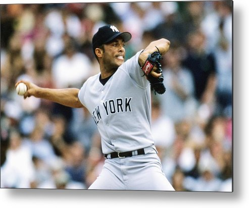 American League Baseball Metal Print featuring the photograph Mariano Rivera by Ronald C. Modra/sports Imagery
