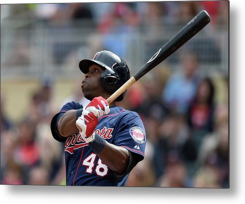 People Metal Print featuring the photograph Torii Hunter by Hannah Foslien