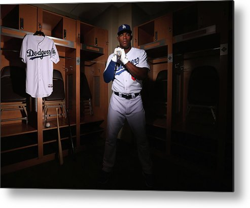 Media Day Metal Print featuring the photograph Yasiel Puig by Christian Petersen