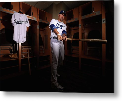 Media Day Metal Print featuring the photograph Adrian Gonzalez by Christian Petersen