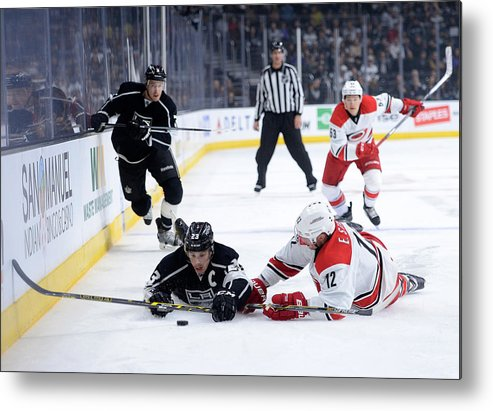People Metal Print featuring the photograph Carolina Hurricanes v Los Angeles Kings by Harry How