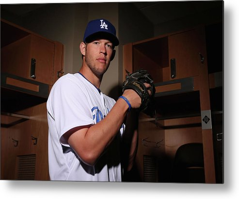 Media Day Metal Print featuring the photograph Clayton Kershaw by Christian Petersen