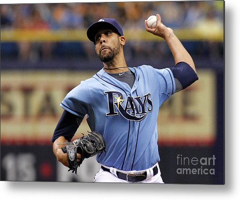 David Price Metal Print featuring the photograph David Price by Brian Blanco